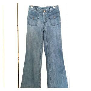 Banana Republic wide leg button pocket jeans